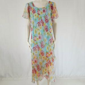 Studio C | Spring Dress Floral Sky Flower